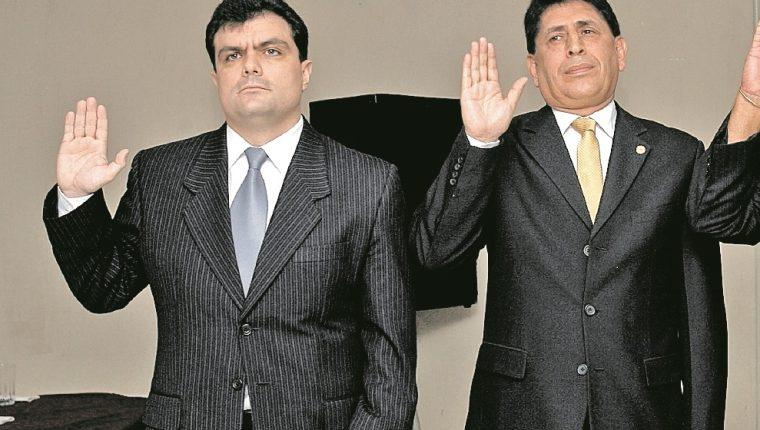 Gerardo Paiz, primero de izquierda a derecha, intenta participar en la elección de la presidencia de la Fedefut. (Foto Prensa Libre: Hemeroteca PL)