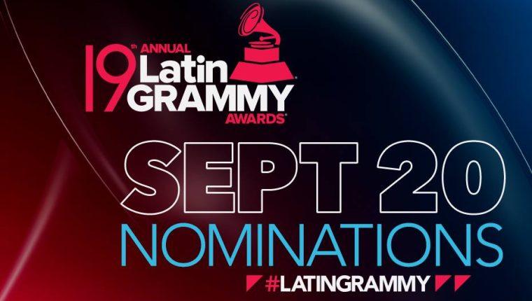 La Academia Latina de la Grabación dio a conocer este jueves a los nominados para la entrega de la 19 edición de los Grammy latinos. (Foto Prensa Libre: Facebook)