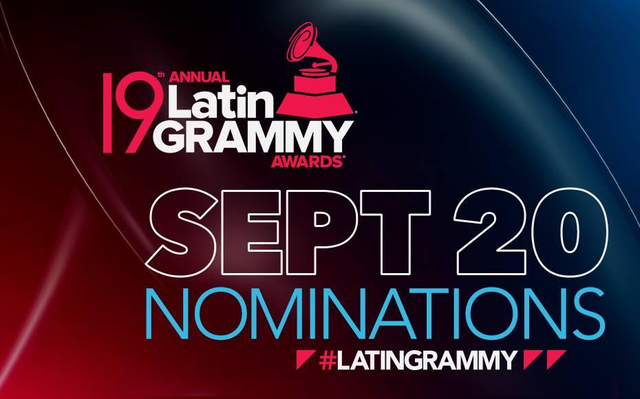 Latin Grammy 2018: ellos son los nominados