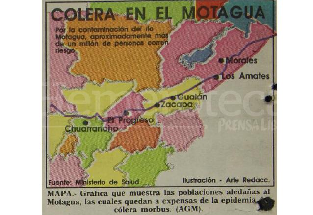 Áreas expuestas a la epidemia de cólera morbus en 1991.  (Foto: Hemeroteca PL)