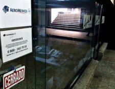 La oficina de Aeroméxico en Caracas, Venezuela, ya está cerrada.