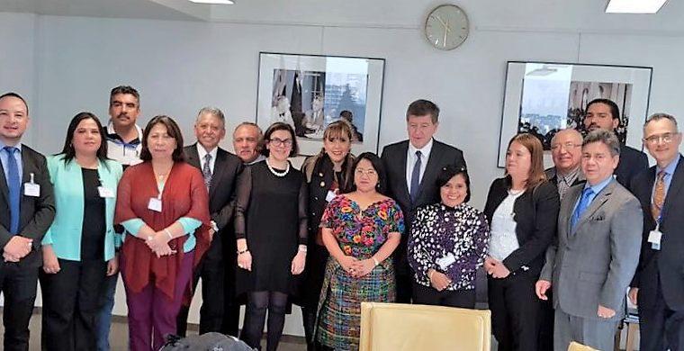 Delegación de Guatemala, sindicalistas e integrantes del Consejo de Administración de la OIT. (Foto Prensa Libre: Mintrab)