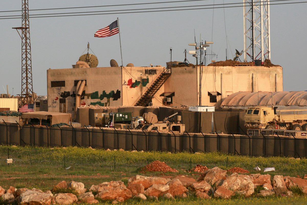 Una base militar de EE. UU. ubicada en la aldea siria de al-Asaliyah, entre Alepo y Manbij. (Foto Prensa Libre:AFP).