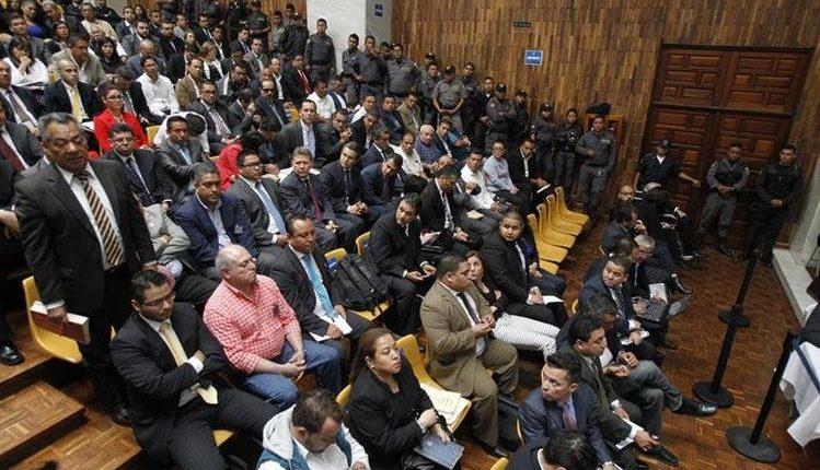 Implicados del caso Cooptación del Estado participan en una del proceso. (Foto Prensa Libre: Hemeroteca PL)