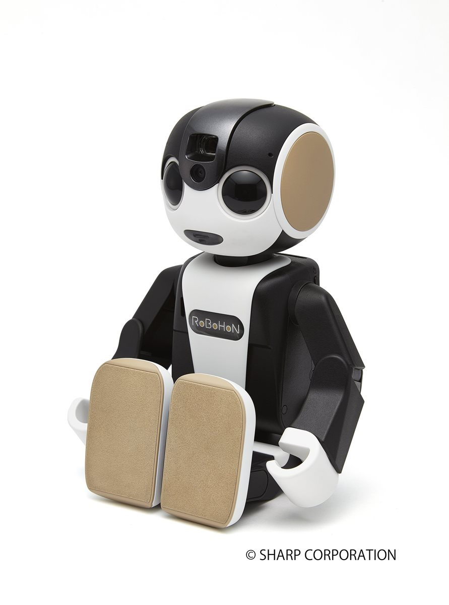 Este robot de bolsillo puede caminar o bailar, y además sirve de teléfono inteligente. (Foto Prensa Libre: EFE).