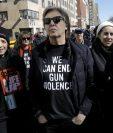 Paul McCartney durante la protesta de March for our lives, en Nueva York, donde mencionó a John Lennon (Foto Prensa Libre: EFE).