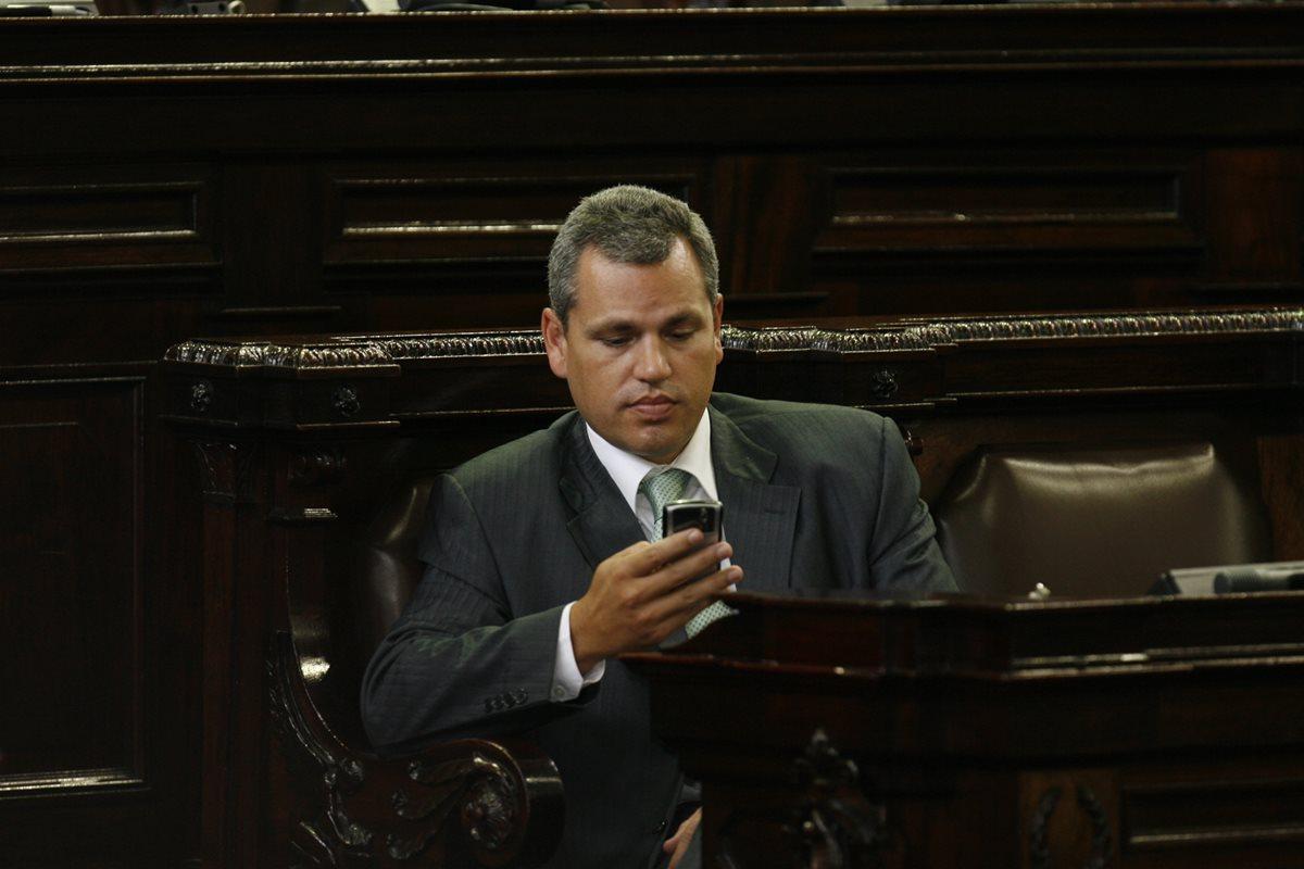 El diputado Christian Boussinot es sindicado en el caso Plazas Fantasma. (Foto Prensa Libre: Hemeroteca PL).