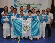 Contingente guatemalteco que participó en los Juegos Codicader.