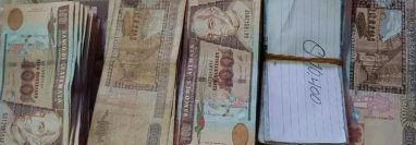 En 2018 la PNC incautó más de Q175 mil 800 en billetes producto de las extorsiones. (Foto Prensa Libre: PNC)