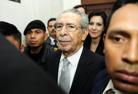 José efraín Ríos Montt, procesado.