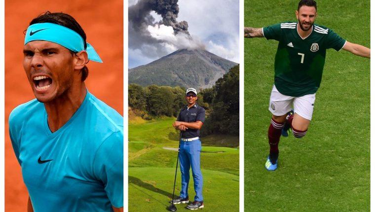 Rafael Nadal, José Toledo y Miguel Layún, se unen para apoyar a víctimas del Volcán de Fuego. (Foto Prensa Libre: AFP y cortesía José Toledo)