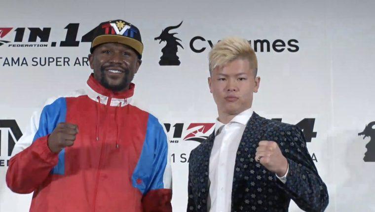 Floyd Mayweather Jr. peleará contra el japonés Tenshin Nasukawa, en Saitama, al norte de Tokio. (Foto Redes).