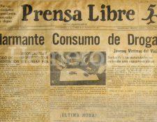 Primer titular de Prensa Libre del 20/08/1951. (Foto: Hemeroteca PL)