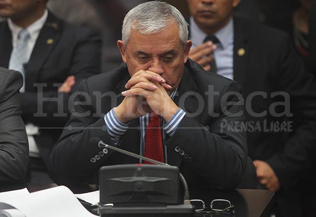 El ex presidente Otto Pérez Molina en su primera comparecencia ante la justicia el día 3 de septiembre de 2015, día de su renuncia. (Foto: Hemeroteca PL)
