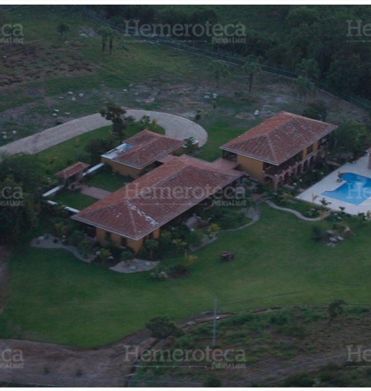 Vista aérea de la residencia palaciega de Alfonso Portillo en Zacapa. (Foto: Hemeroteca PL)