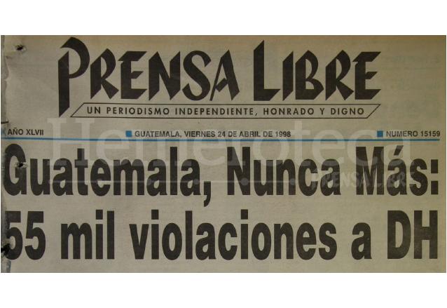 1998: Se presenta el informe del Remhi sobre horrores del conflicto