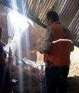 Lugar en el que murió la primera víctima de las lluvias al ocurrir un deslave, en Sansare, El Progreso. (Foto: Conred)