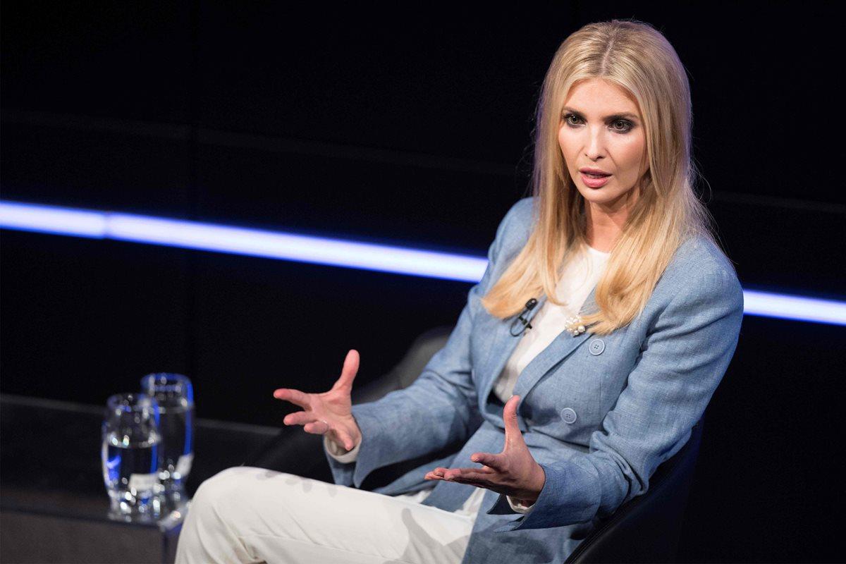 """""""Soy hija de una inmigrante"""", continuó Ivanka en referencia a su madre, Ivana, que nació y creció en la antigua Checoslovaquia. (AFP)"""