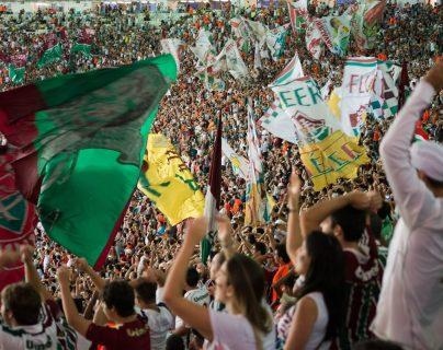 La afición del Fluminense espera volver a celebrar. (Foto Prensa Libre: Twitter Fluminense)