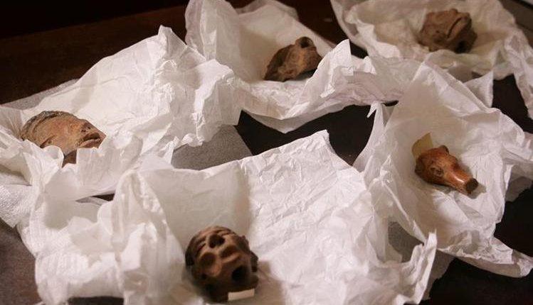 Diversas piezas mayas son robadas de los diferentes sitios arqueológicos de Guatemala. (Foto Prensa Libre: cortesía Minex)