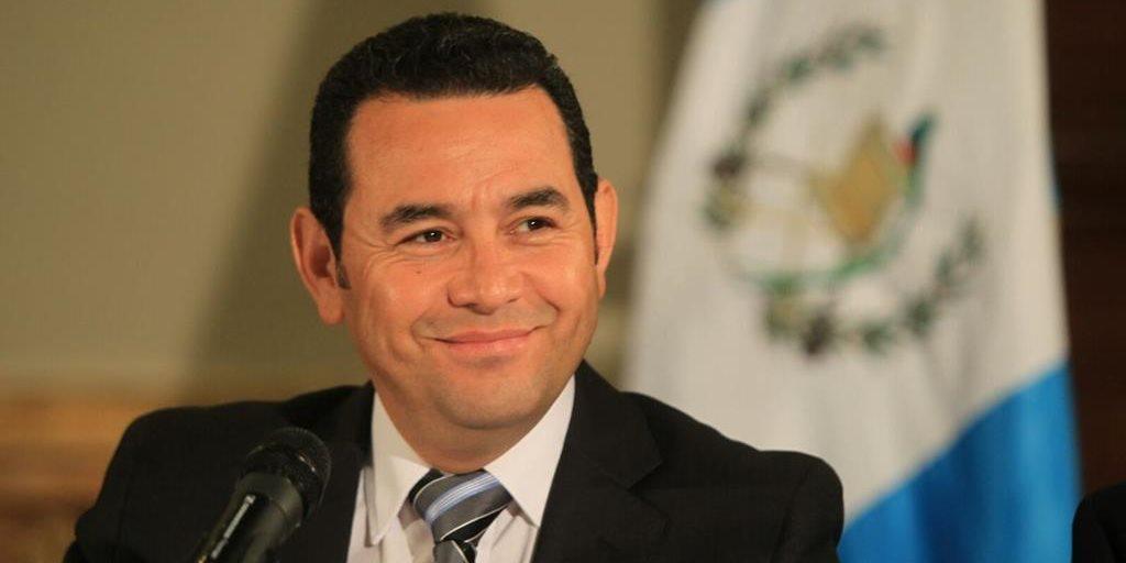 Presidente Jimmy Morales. (Foto Prensa Libre: HemerotecaPL)