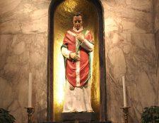 Imagen que representa a San Valentín que se encuentra en su sepulcro en Dublín, Irlanda. (Foto: EFE)