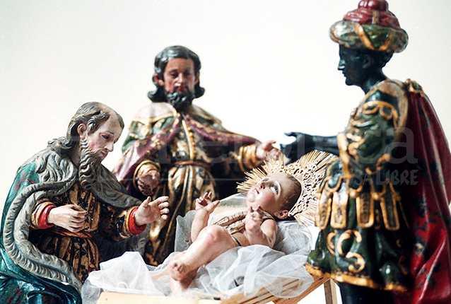 Misterio barroco de los Reyes Magos con el Niño Dios del Templo de la Merced de Guatemala. (Foto: Hemeroteca PL)