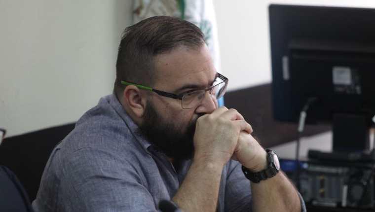 Javier Duarte durante la audiencia de solicitud de extradición. (Foto Prensa Libre: Érick Ávila)