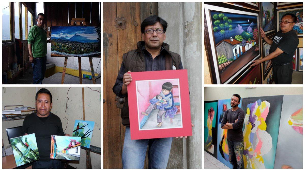 El talento pictórico se nota en el trabajo de los artistas de la provincia. (Foto Prensa Libre: Hemeroteca PL)