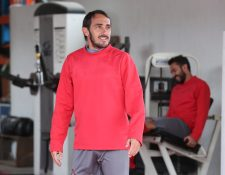 El delantero rojo Gastón Puerari tiene plena confianza de que Municipal ganará el Clásico 301. (Foto Prensa Libre: Francisco Sánchez).