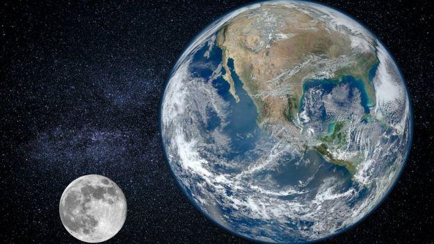 Entre la Tierra y la Luna hay zonas donde se acumula polvo interplanetario. GETTY