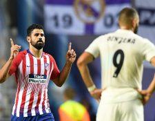 Karim Benzema no pudo pesar lo suficiente para que su equipo se quedara con el título frente al Atlético de Madrid. (Foto Prensa Libre: AFP)