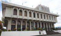 Edificio de la Corte Suprema de Justicia en la ciudad de Guatemala. FOTO: Alvaro Interiano.