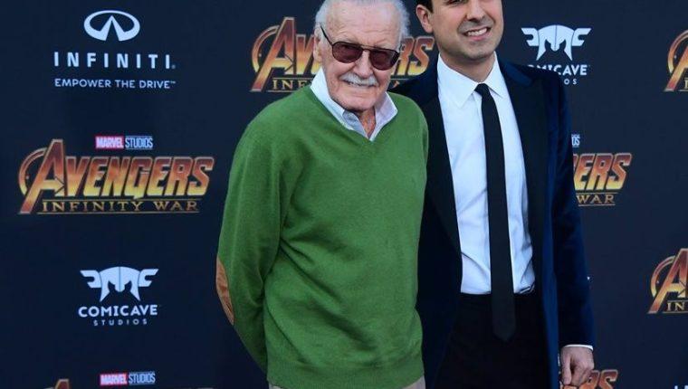 Stan Lee, durante la premier de Avengers: Infinity War, el lunes pasado (Foto Prensa Libre: AFP).