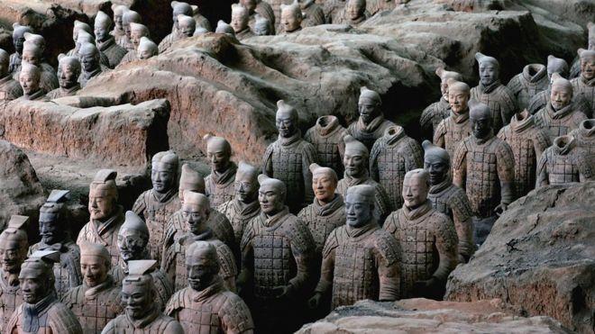 Los Guerreros de Terracota fueron hallados en 1974 cerca de Xian. GETTY IMAGES