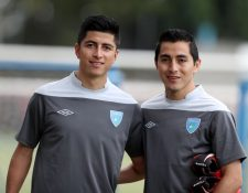 Frank y Mynor de León, forman parte del llamado de Wálter Calverí a la Selección de Guatemala. (Foto Prensa Libre: Carlos Vicente)