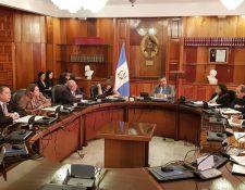 Un pleno de la Corte Suprema de Justicia incompleta y con una única nominación, no logró elegir a un nuevo presidente del Organismo Judicial. (Foto Prensa Libre: OJ)