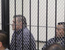 Los dos condenados por haber dado muerte a tres personas en Quetzaltenango. (Foto Prensa Libre: María José Longo).
