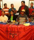 El Comité de Unidad Campesina (CUC)efectuó conferencia de prensa para hablar sobre los posibles desalojo (Foto Prensa Libre: Álvaro Interiano)