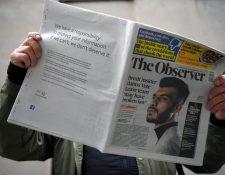 El diario británico The Observer publicó en su contraportada la disculpa de Marck Zuckerberg.