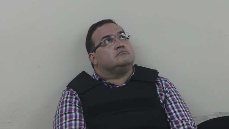 El exgobernador Javier Duarte en Torre de Tribunales. Foto Prensa Libre: Hemeroteca PL