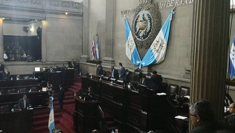 El pleno del Congreso discutió en segundo debate las reformas a la Ley en Materia de Antejuicios. (Foto Prensa Libre: Carlos Álvarez)