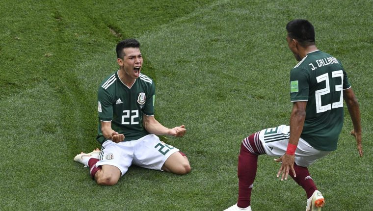 Hirving Lozano anotó el único gol del partido en la victoria de México 1-0 contra Alemania. (Foto Prensa Libre: AFP)