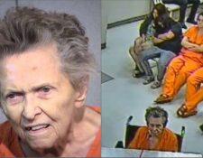 Anna Mae Blessing aparece en una silla de ruedas en su comparecencia ante el tribunal el martes.