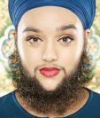 Fue cuando fue bautizada como sij, a los 16 años, cuando Harnaan Kaur empezó a dejarse crecer la barba. PAUL MICHAEL HUGHES/GUINNESS WOR