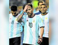 Las selección de Argentina estuvo a punto de no participar en el Mundial de Rusia 2018. (Foto Prensa Libre: AFP)