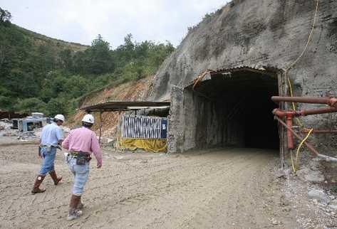 La mina Marlin, de GoldCorp, en San Marcos, es la mayor explotadora de metales en el país.