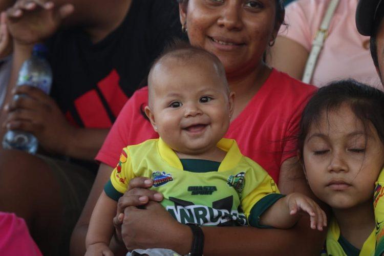 Una sonrisa para la foto.  (Foto Prensa Libre: Francisco Sánchez)