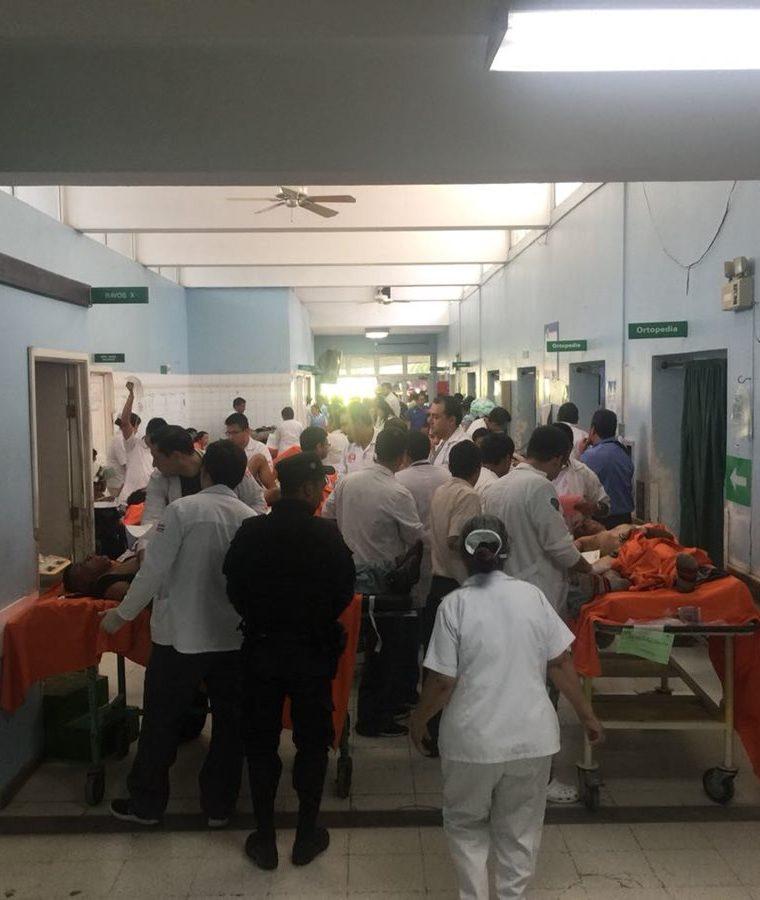 Así está la Emergencia del Hospital Roosevelt. (Foto Prensa Libre: cortesía)