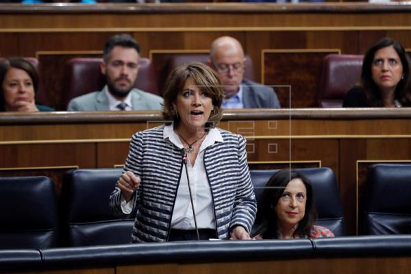 Dolores Delgado, ministra de Justicia española. (Foto Prensa Libe: EFE)